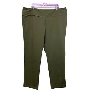 Women's Plus Size 3X Green Legging Tummy Control